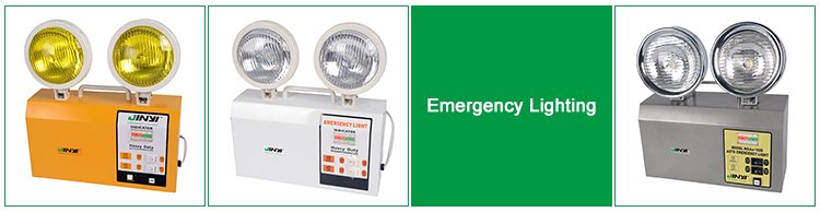 Two Head Fire Exit Rechargeable Emergency Led Light Twin Spot ...