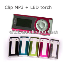 <span class=keywords><strong>Digital</strong></span> mini clipe mp3 player manual com LED tocha