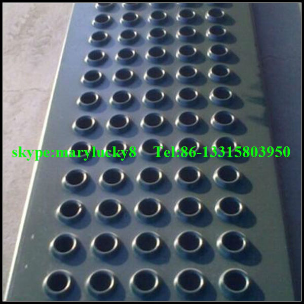 Anti Skid Hole Perforated Floor Dimpled Perforated Raise