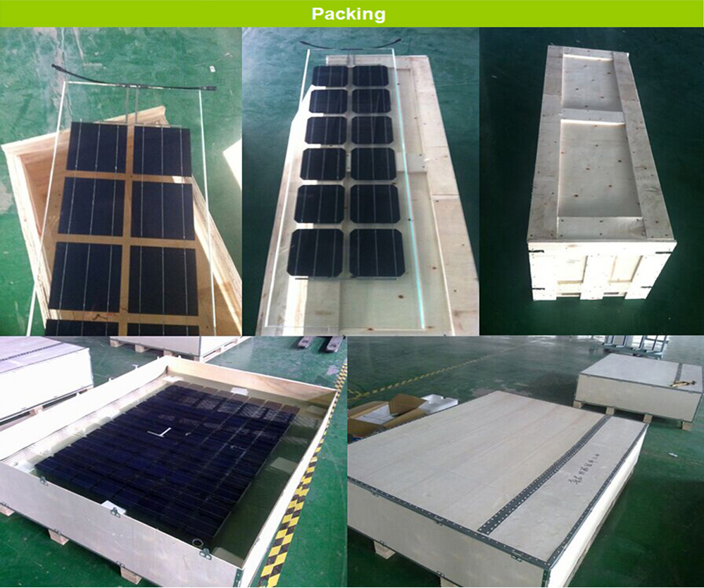 Solar Panel Bipv For Window Double Glass Solar Panel For