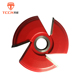 TCCN OEM High Quality Red 3 Teeth Tungsten Carbide Shaper Cutter Head For Wooden Doors