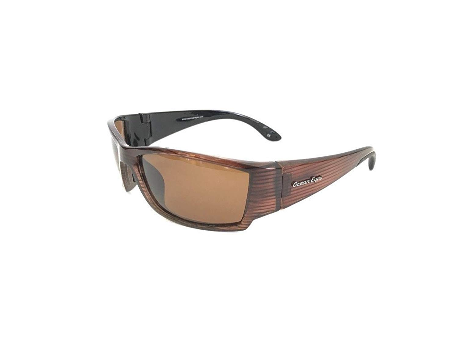 cc2d5f4e2cf Get Quotations · Ocean Eyes Fish On Polarized Sunglasses - Brown Striped