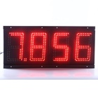 Hot sell high brightness outdoor waterproof large 7 segment led display in gas station