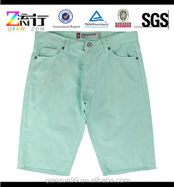 2015 Light green cotton twill men's shorts/young fashion shorts