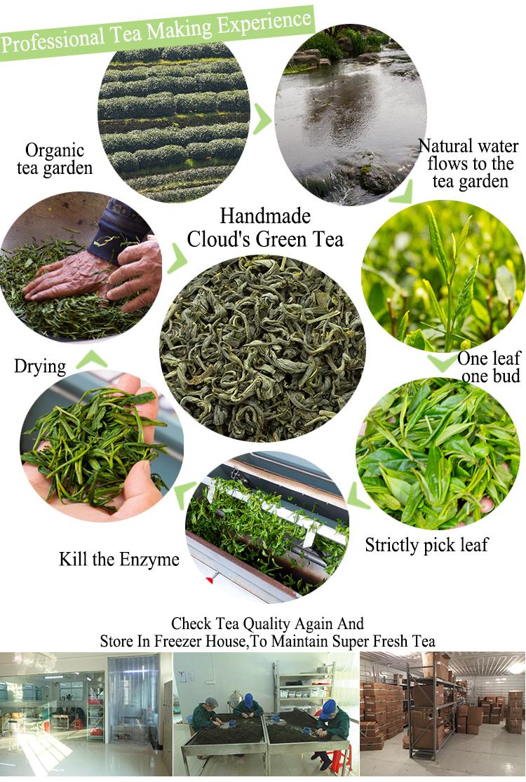Best Flecha Quality Organic Japanese Chinese Yunwu ( Cloud Mist ) Slim Sencha Green Tea Leaves Brands Price Per KG - 4uTea | 4uTea.com
