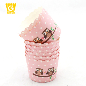Kitchen oven baking tool colorful fancy muffin cupcake holders wrappers