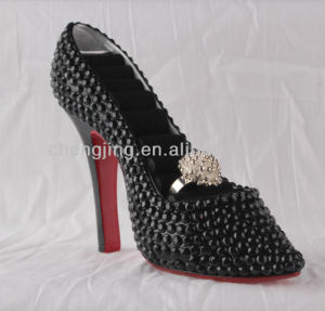 Resin Material Rhineston Wholesale High Heel Shoe Ring Holder