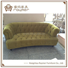 Living room furniture buttoned back sofa green velvet armed sofa neoclassical sofas