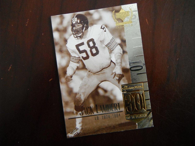 Jack Lambert - 1999 Upper Deck Legends #30 Greatest Ever - Pittsburgh Steelers