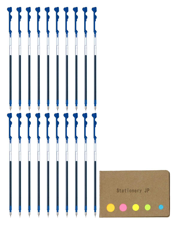 Pilot Hi-tec-c Coleto Gel Ink Pen Refill, 0.3mm, Blue Ink, 20-pack, Sticky Notes Value Set