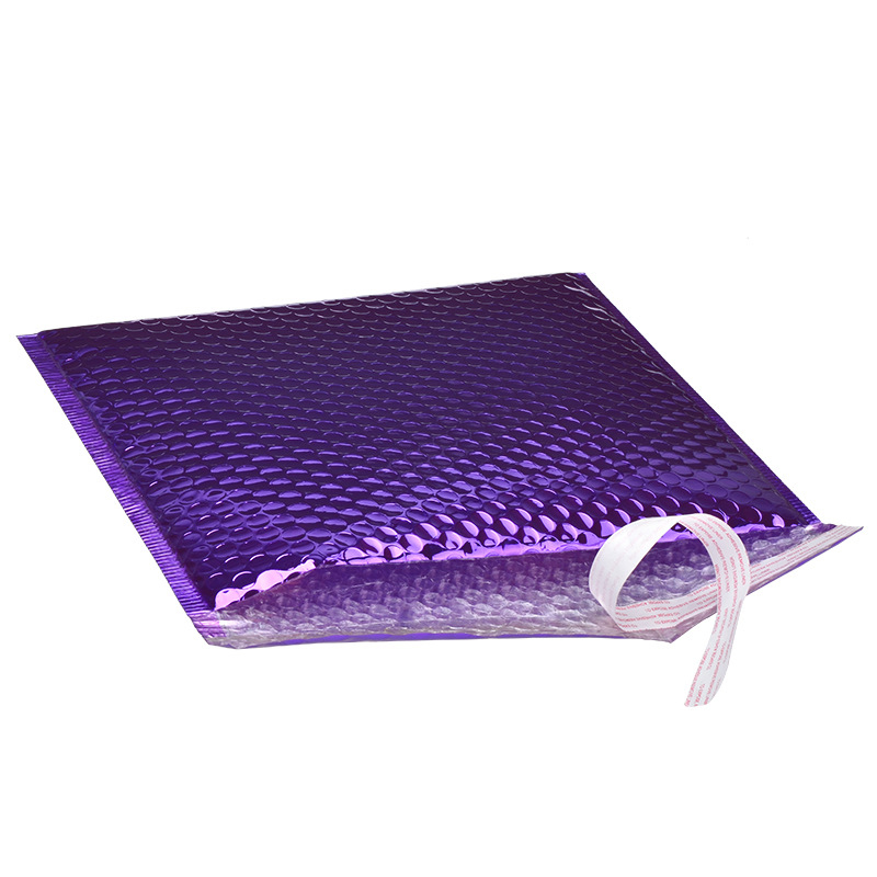 7d963937bd59 Custom Printed Purple Metallic Aluminum Foil Poly Bubble Mailers Padded  Envelopes Package Bags