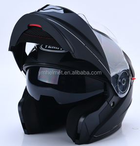 Factory wholesale DOT approved 2017 new model flip up motorcycle helmet with double visor full face helmet
