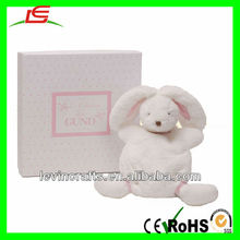 stuffed fuzzy white rabbit toy bunny stuffed