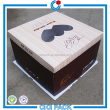 top quality unique birthday /party paper cake packaging box