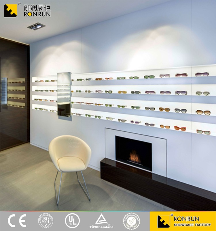wood glasss beauty product cosmetic display design showcase for sale