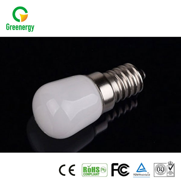 Greenergy China Ningbo Factory E14 2W 150lm 220-240V CRI80 PF0.4 E14 LED Bulb LED fridge bulb