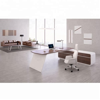 High Gloss White Office Furniture Leather Boss Executive Desk   Buy  Executive Desk,Luxury Executive Office Desk,White Office Furniture Product  On ...