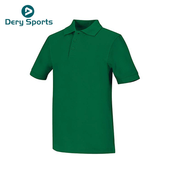 Soft fabric plain blank breathable shirt polo green polos greenwood mens polo shirt