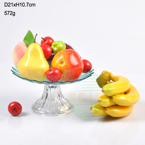 wholesale colored glass cake stand with various size /glass dish /glass plate
