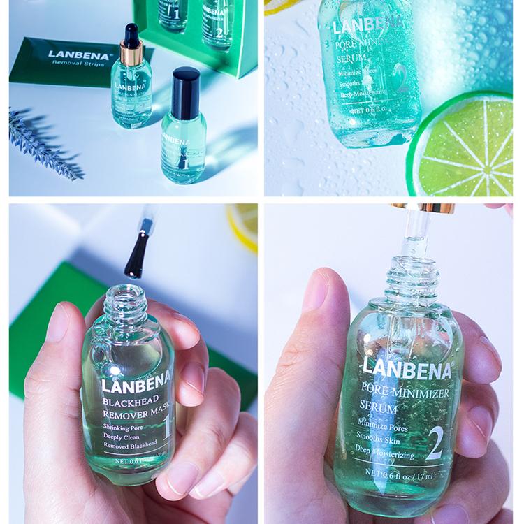 Hot Selling Lanbena Green Tea Blackhead Remover Pore Minimizer