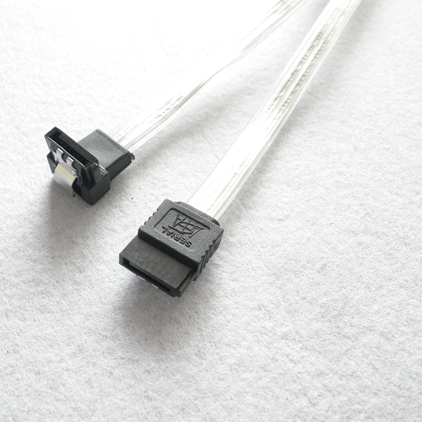 High quality Led light Sata male cable with Latch ,7P sata power cable