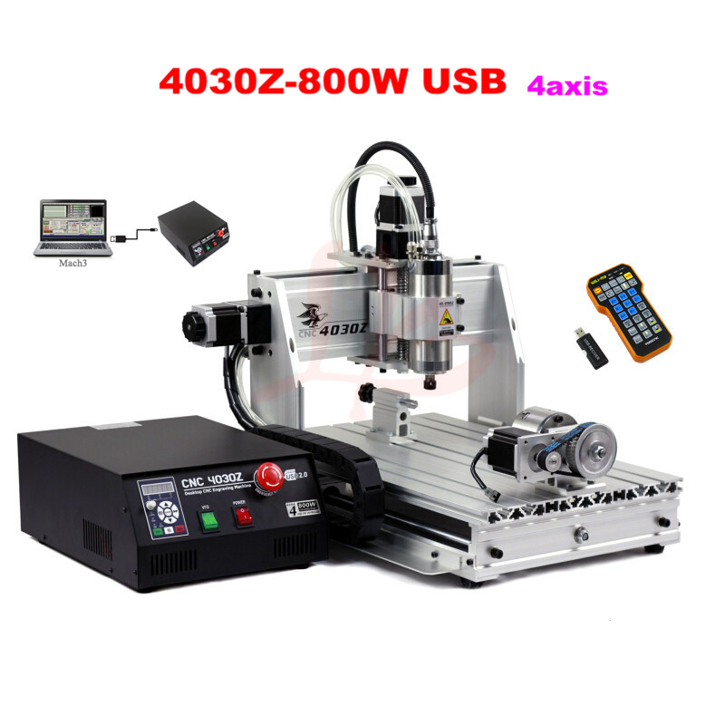Convient With Mach3 Remote Control ! 3d Cnc Counter Engraver 4030z-800w Usb  Enfgraving Machine For Art Of Wood And Stone - Buy 3d Cnc Ruter,Remote