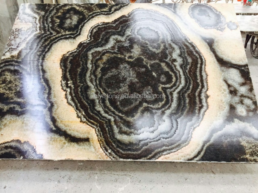 Marble Black Onyx : Natural onyx marble stone black tiger countertop