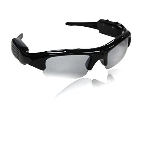 Full HD 1080P Intelligent Sports spy hidden camera sunglass with Built-in 16GB Memory