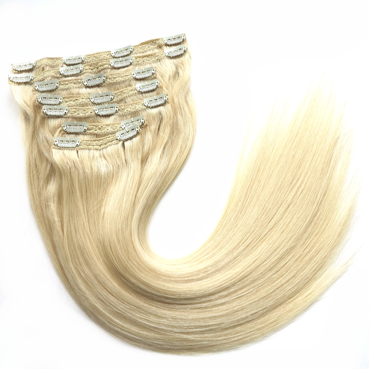 "HARMONY 2 packs 120grams 20"" - 22"" double drawn indian virgin remy lace attached seamless clip in hair extension <strong>human</strong>"