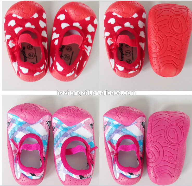 Baby Rubber Sole Sock Shoes,Rubber Sole Baby Sock - Buy Rubber ...