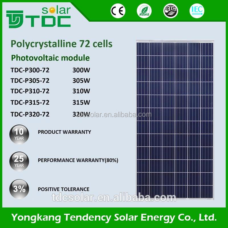 high quality poly 300w 310w 315w 320w solar panel with CE TUV ISO certificate