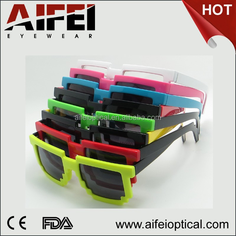 Colorful unisex plastic party sunglasses with UV400 lens