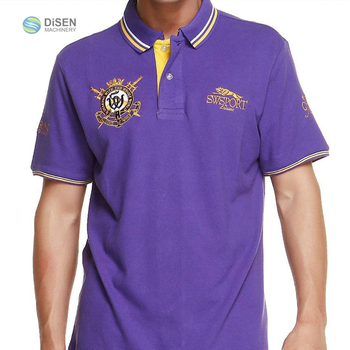 Business garment polo womens men casual shirt embroidery design with custom