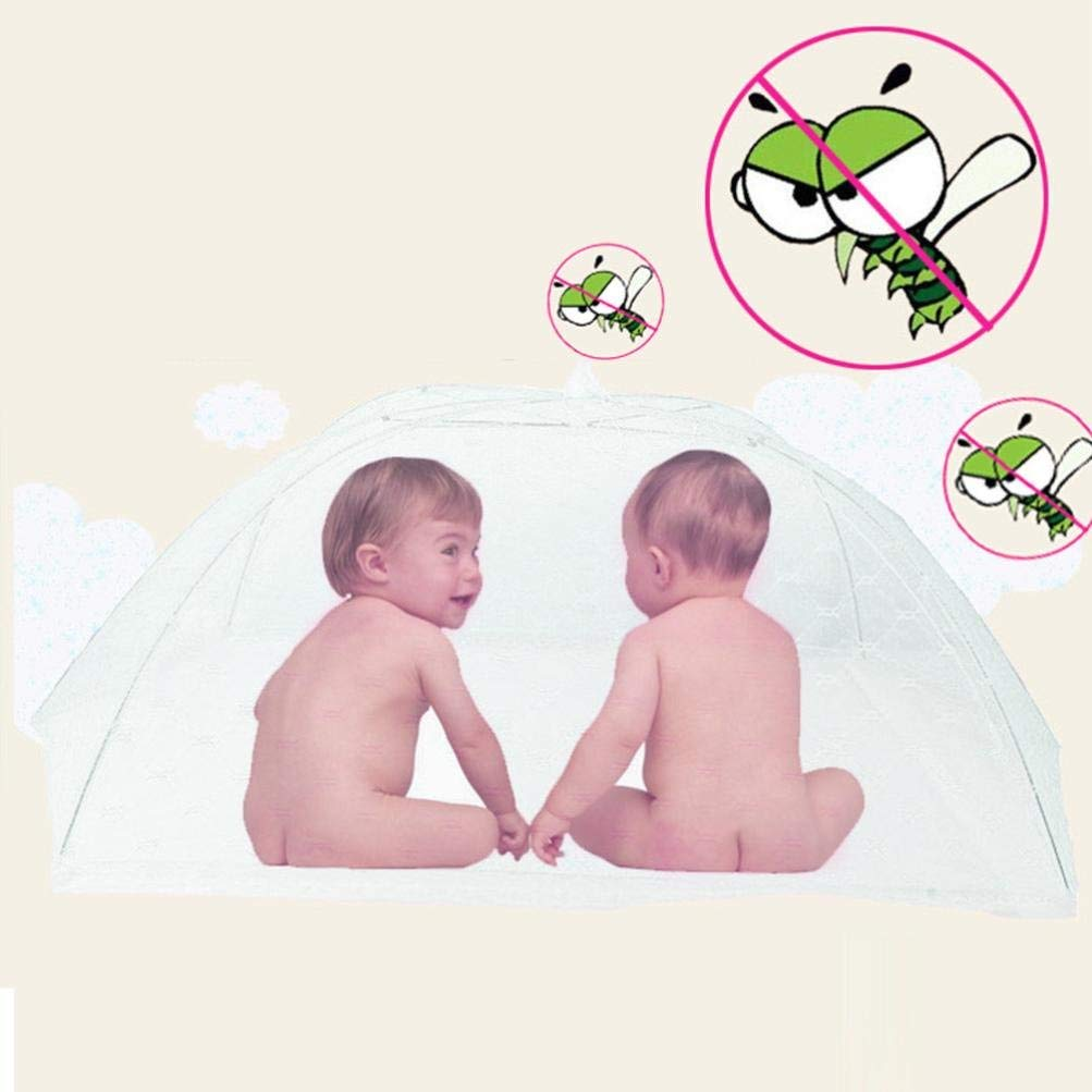 Inverlee Baby Portable Folding Mosquito Mesh Dome Curtain Net (White)