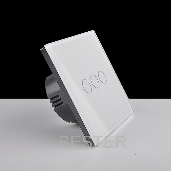 Wholesale 3 gang EU standard wall touch <strong>switch</strong>,intelligent home light touch <strong>switch</strong> for led light BS053
