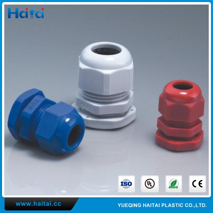 Haitai OEM Low Price Waterproof Colorful UL Nylon 66 94V-2 Cable Gland With Size Chart