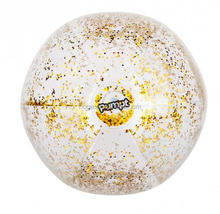 16 inch inflatable glitter beach ball for kids