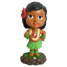Vendita calda Hawaii souvenir Hawaiano <span class=keywords><strong>hula</strong></span> girl figurine bobble head, <span class=keywords><strong>hula</strong></span> girl statua all'ingrosso