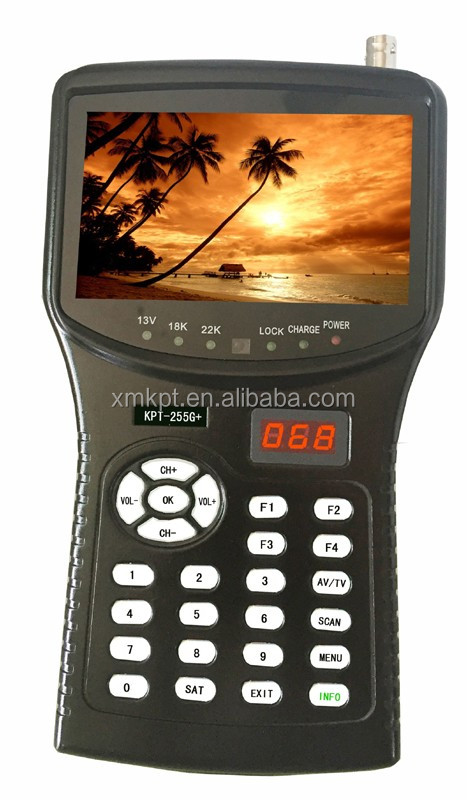 Best Selling KPT-255G full digital satellite finder meter prices with DVB- S2 signal