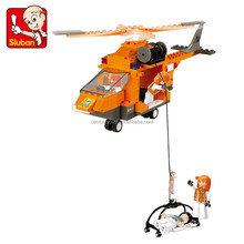 Sluban SOS rescue helicopter toys building block for sale