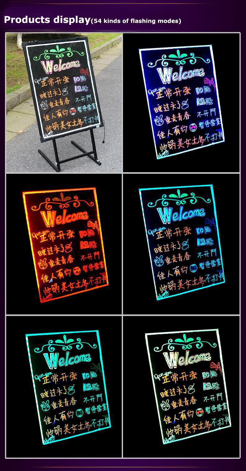 Fluorescent Led Information Board / Neon Led Dry Erase Writing ...