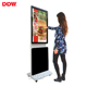 Factory Supplying 43 inch rotating lcd display lcd free stand advertising player touch screen rotating kiosk
