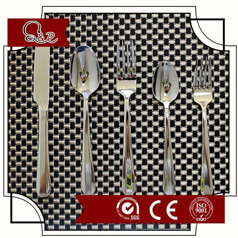 KITCHENWARE 18/0 metal WHITE CUTLERY WITH KNIFE FORK SPPON