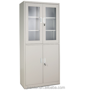Half Glass Door Medical Office Filing Cabinets For Dubai Kuwait Saudi Europe Metal Furniture Market