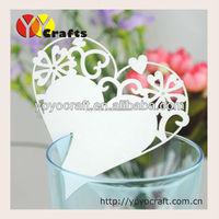 Unique paper heart shape lace wedding favor laser cut wedding place card