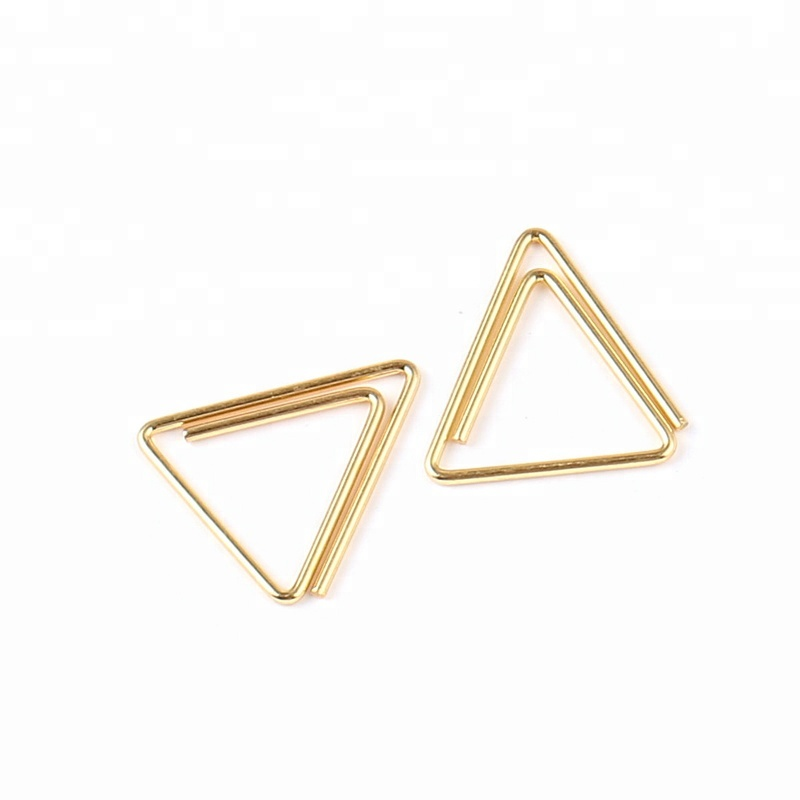 Elegant Personalized Triangle Gold Paper Clip