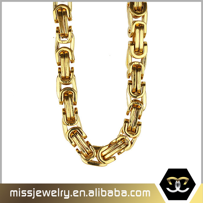 Missjewelry New 18ct Imitation Gold Cuban Neck Chain Designs For ...