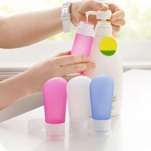 Novo 3 Pçs/set Viagens Garrafa De Silicone Recipientes de Tubo de Shampoo Shower Gel Loção do Cuidado Da Pele Garrafas Squeeze Squeeze Kit Free Ship