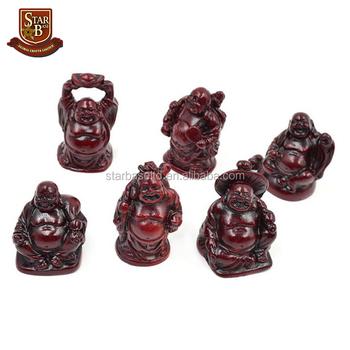 Rojo Figura Feng Shui Riendo Feliz Resina Buda - Buy Figuras De ...