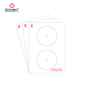 a4 size label blank self adhesive a4 CD/DVD labels